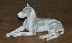 "LFZ Lomonosov factory - Porcelain Figurine ""Dog"" -"