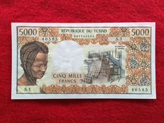 Chad - 5000 Francs (1976) - signature 6 - Pick 5a