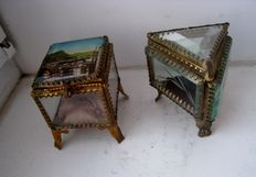 2 Vintage jewelry boxes, - France - ca. 1890