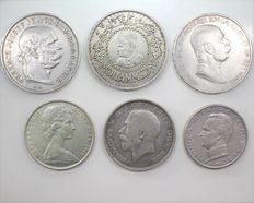 Lot of 6 Silver Coins – Various Countries