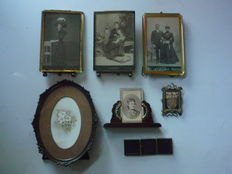 Lot of 7 photo frames - early 1900