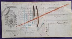 Suriname; Promissory note buying the freedom of slaves Suriname - 1865