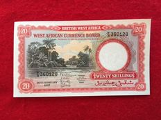 British West Africa - 20 Shillings 20.2.1957 - Pick 10a