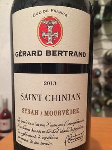 2013 Saint Chinian, Syrah/Mourvèdre by Gérard Bertrand, 12 bottles of  one of the best Pays d'Oc IGP red wines !