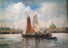 A. Martens (20th century) - View of Amsterdam