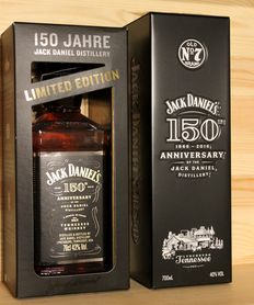 "2 bottles - Jack Daniels 150th Anniversary ""1866-2016"", incl. Box, 2x70cl, 40%vol.+43%vol. Limited Edition"