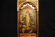 Religious Icon Board Virgin Mary - 20th century