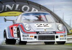 Fine Art : Porsche Carrera RSR Turbo Le Mans 1974. Came 2nd driven by G.Van Lennup and G. Muller.