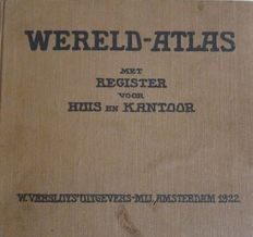 Atlases; 9 Dutch atlases - 1921 - 1976