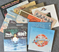 Lot of 12 original seventies albums by The Doobie Brothers, The Eagles, J.J. Cale, Earth Wind & Fire and Fleetwood Mac