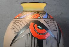 Joma - French Art Deco enameled vase