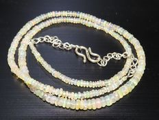 Ethiopian Opal beads necklace