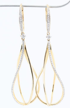 14kt diamond dangle earrings