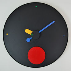 Raul Barbieri & Giorgio Marianelli for Rexite – Post modern 'Contrattempo' wall clock