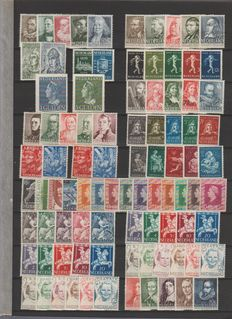 Netherlands 1938/1964 - Lot of series between NVPH 305 and 834