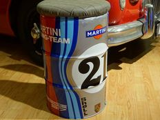 Porsche - Oil barrel seat - Martini Racing Porsche 917 - LeMans no. 21 - height 61 cm