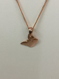 Rose gold chain with vintage butterfly-shaped pendant