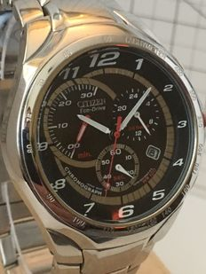 """Citizen Eco Drive  """"Solar Chronograph"""" -- Men's wristwatch -- 2017 -- used, in mint condition."""