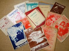 Lot of 60 pieces of sheet music