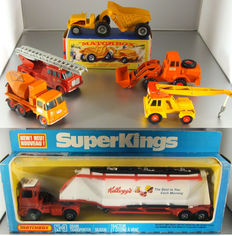 Lesney Matchbox - Misc. scales - Lot with 6 King Size/Super Kings models