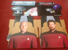 Star Trek - Two lifesize Star Trek video promo displays - Captain Jean-Luc Picard and Commander William Riker - 180cm high - Year 1994.