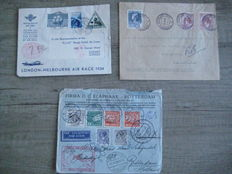 Netherlands 1924/1934 - Three airmail covers