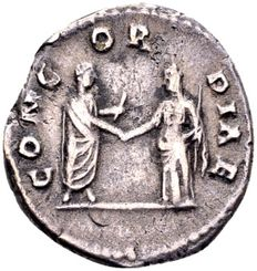 Roman Empire - Silver denarius of Diva Faustina I, the wife of Antonius Pius (138-161 AD), minted after her death in Rome