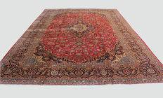Fine Pure Wool Hand-Woven,Classic Royal Persian Kashan, Massive Room Size 425x310cm Around 1970
