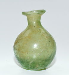 Ancient Roman Glass Collared Flask - 45 mm