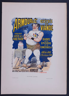 Henry Meunier  - 'Armoud' original small lithograph poster from the 'Les Affiches Illustrées' series