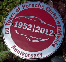 Porsche Official Grill Badge 60 years of Porsche Clubs worldwide 1952-2012