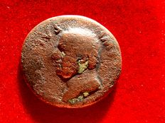 Roman Empire - Vitellius, 2nd. January – 20th. December 69 (recognized Emperor in Rome on 19th April)  bronze as (7,75 grs. 26 mm.), Tarraco mint, January-June AD 69. CONSENSVS EXERCITVVM.