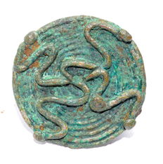 Bronze Age Ring with Four Snakes Motif on Bezel - 20 mm (inner diam.)