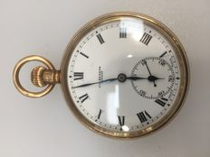 J W Benson - Half hunter pocket watch - 1930