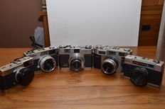 Lot of 5 Asian 35 mm cameras, made from the '60s to the '70s