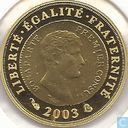"France ¼ euro 2003 (PROOF) ""Bicentennial of the franc germinal"""