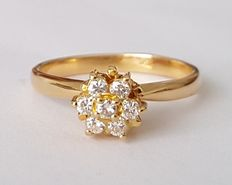 Goldener Ring mit 7 Diamanten