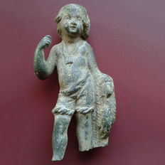 Roman Bronze Figure of a youth - 11 cm