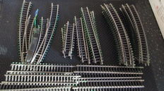 Märklin H0 - 2 switches and 40 track pieces