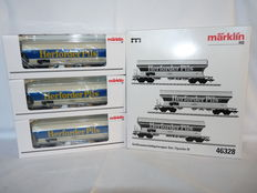 "Märklin H0 - 46328 - 3-piece set ""Herforder Pils"" large volume hopper cars of the DB"