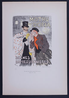 T. A Steinlen  - 'Mothu et Doria' original small lithograph poster from the 'Les Affiches Illustrées' series