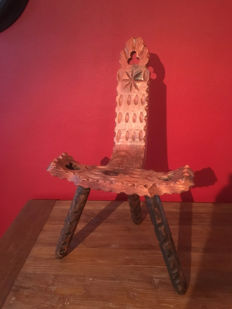 Beautiful old carved wooden chair