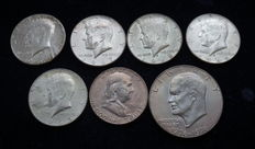 United States - 7 Different Silver Coins