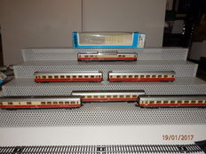 "Märklin H0 - 4297/4295/4099/4149 - 6 ""TEE""-carriages of DB"
