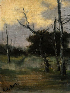 Joan Roig Bofill (active at the end  of the 19th c. - beginning of  the 20th c.) - Landscape