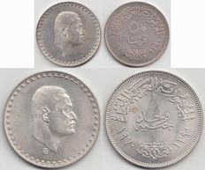 Egypt – 50 piaster and 1 pound 1390 (1970) – silver