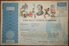 USA - Walt Disney Company - DECO Share Certificate 2003 - vignette with Mickey Mouse, Donald Duck, Bambi, Winnie-the-Pooh and others