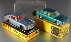 Dinky Toys-GB/ES - 1/43 scale - Lot with Aston Martin DB6 No.153 and Chrysler Simca 1308 GT No.11542