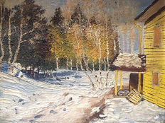 Vasyl Svalyavchik - Winter house in a forest