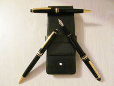 Montblanc Meisterstück 145R - triple set - M nib Fountain Pen, Ballpoint Pen and Mechanical Pencil